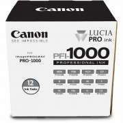 Canon Pigment Ink Tank PFI-1000 Lucia PRO 12 Set komplet 12x tinta 80ml za printer imagePROGRAF PRO-1000 0545C006AA 0545C006AA