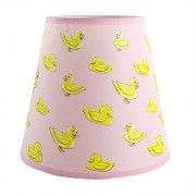 SooRoo Kids Duck Lamp Shade - Childrens Dozing Ducks Lampshade for Boys & Girls Nursery, Bedroom, Playroom, Classroom & More - Pink or Blue (Pink)