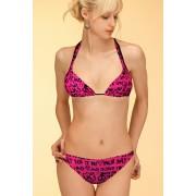 Caribien pink dámské plavky trojúhelníčkové S tmavě růžová