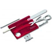 Victorinox SwissCard Nailcare Multitool - 13 Functies - Transparant Rood