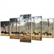vidaXL Декоративни панели за стена Зебри, 200 x 100 см