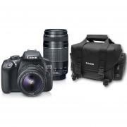 Cámara Reflex Canon Eos Rebel T6 Con Dos Lentes 18-55 Y 75 - 300 Conectividad Wifi