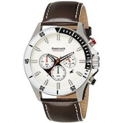 Fastrack Big Time Analog White Dial Mens Watch - Nd3072Sl01
