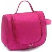 Swadec Cosmetic Make Up Toiletries Tel Hanging Bag - DARK PINK Travel Toiletry Kit(Pink)