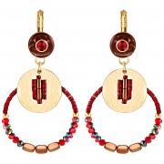 La Chiquita Boucles d'oreilles Piruteka Cereza rouge bourgogne