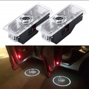 2 PCS LED Coche Puerta Bienvenido Logo Marca De Coches 3D Sombra Luz Para BMW