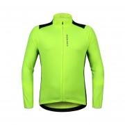 Hombres Jersey De Ciclismo Camisetas Trasera Reflectante De La Bici De La Bicicleta Del Pelaje - Verde