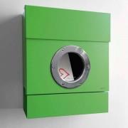Radius Design Letterman 2 Briefkasten grün (RAL 6018) ohne Klingel ohne Pfosten
