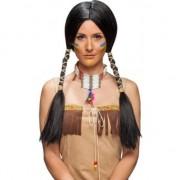 Merkloos Zwarte damespruik Indiaan