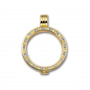 Mi Moneda PEN-GRA-02 Pendant Grace 925 Silver Gold Plated