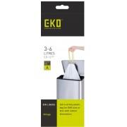 Комплект от 30 бр. торби за смет EKO с връзки - размер А (3-6 литра)