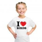 Bellatio Decorations I love birds t-shirt wit jongens en meisjes