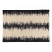 Miliboo Wollteppich Elfenbeinfarben und Schwarz 160 x 230 cm IKAT