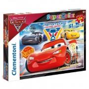Puzzle 104 piezas Cars Disney Rayo McQueen Dinoco - Clementoni