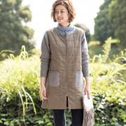 Provador ニット切替 中わたコート【QVC】40代・50代レディースファッション