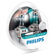 Pack 2 ampoules H4 Philips X-treme Vision +130%