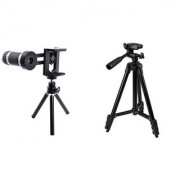 Telescope Mobile Lens and 3120 Camera Tripod ||Telescope Lens|| Mobile Lens||Universal Mobile Lens ||Telescope Lens||Zoom Lens||So Best and Quality Compatible with all your devices WCQ_423