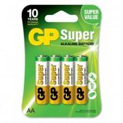 GP Batterier AA, GP Super Alkaline AA-batteri, 15A/LR6, 4-pack