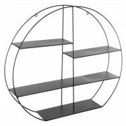 Raft de perete metalic forma rotunda culoare neagra