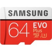 Samsung EVO Plus 64 GB MicroSDXC Class 10 100 MB/s Memory Card(With Adapter)