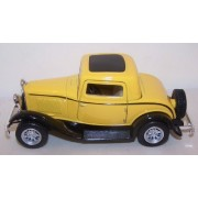 Kinsmart 1/34 Scale Diecast 1932 Ford 3 Window Coupe In Color Yellow