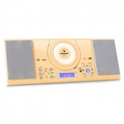 Auna MC-120 Microanlage Vertikalanlage MP3-CD-Player USB AUX Wandmontage creme