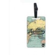 Nutcaseshop Map Adventure Is Out There Luggage Tag(Multicolor)