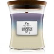 Woodwick Trilogy Calming Retreat lumânare parfumată cu fitil din lemn 275 g