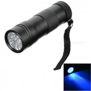 12 LED Linterna UV Negro