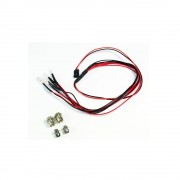 LED szett fehér/piros alumínium tartóval