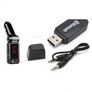 Combo of Car Bluetooth Device with 2A Bluetooth Car Kit