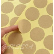 100pcs/lot Dia:35mm Vintage Blank round kraft sticker Gift seal stickers for handmade products (ss-09)