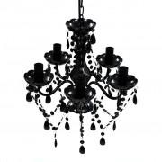 vidaXL Стилен черен полилей със свещници