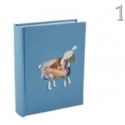 Fényképalbum babás ablakos textíl borítású 200db 13x9cm-es képhez KD35200 SHEEP 2féle - Fényképalbum