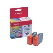 Canon Cartuchos de tinta Original CANON Pack 2 unidades BCI24CTP Amarillo, Magenta, Cián