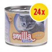 Smilla Fai scorta! Smilla Kitten 24 x 200 g - Vitello