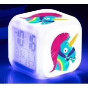 Fortnite színváltó ébresztőórás éjjeli lámpa