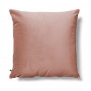 Kave Home Funda cojín Lita 45 x 45 cm terciopelo rosa