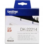 Brother DK-22214 Etiquetas Cinta continua, 12 mm blanco 30,48 m