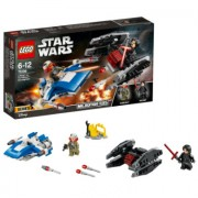 Lego ® Star Wars™A-wing™ vs. TIE Silencer™ microfighters 75196