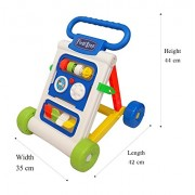 Toyshine My First Step Baby Activity Walker, Push and Pull Toy Activity Baby Walker, White - Toddler Learning Toys for 1-1.5 Year Old