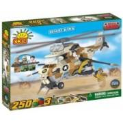 Set de construit elicopter Desert Hawk 250 piese - Cobi