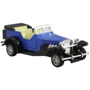 DealBindaas Metal Die Cast 132 Classic Buggy Antique Car Model Pull Back Action Openable Doors Dinky Car Toys Children Gift Collection Blue