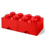 40061730 Cutie depozitare LEGO 2x4 cu sertare, rosu