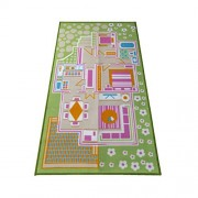 Kids Carpet Playmat Rug Play Time! Fun House Great For Playing With Dolls Mini People Figures Cars, Toys - Learn Educational Play Safe & Have Fun - Play Mat For Children, Baby Bed Room, Play Game Area