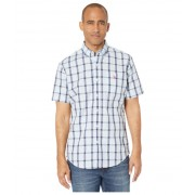 US POLO ASSN Short Sleeve Small Plaid Woven Tahoe Blue
