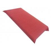 Cearsaf cu elastic pe colt 120x60 cm Buline albe pe rosu