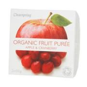 Clearspring Frugtpuré Æble, Tranebær Ø - 200 G