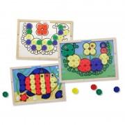 Melissa Doug mozaic din lemn cu culori