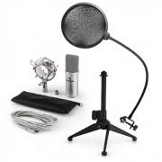 Auna MIC-900S USB set de micrófonos V2 Micrófono condensador Protección anti pop Soporte de mesa